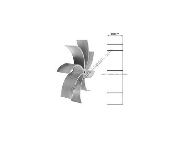 Roue à ailettes de 40 mm pour extracteur Fandis